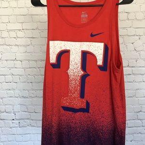 MLB Nike Texas Rangers ombré tank top